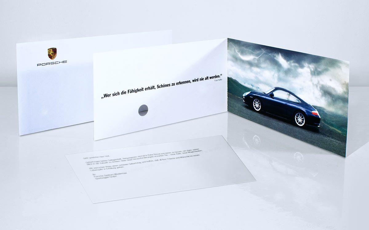 Porsche Metallic Flower Mailing