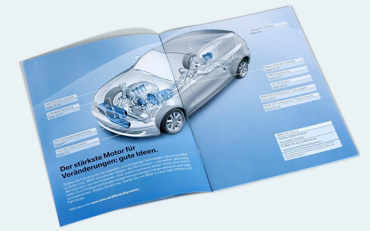BMW Efficient Dynamics Inhaltsübersicht
