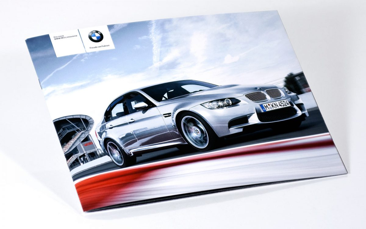 BMW M3 Sedan flyer title