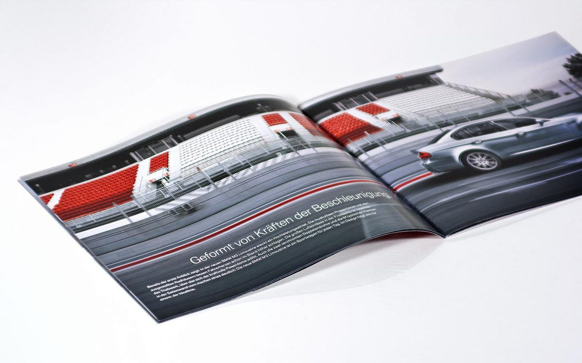 BMW M3 Sedan flyer inside