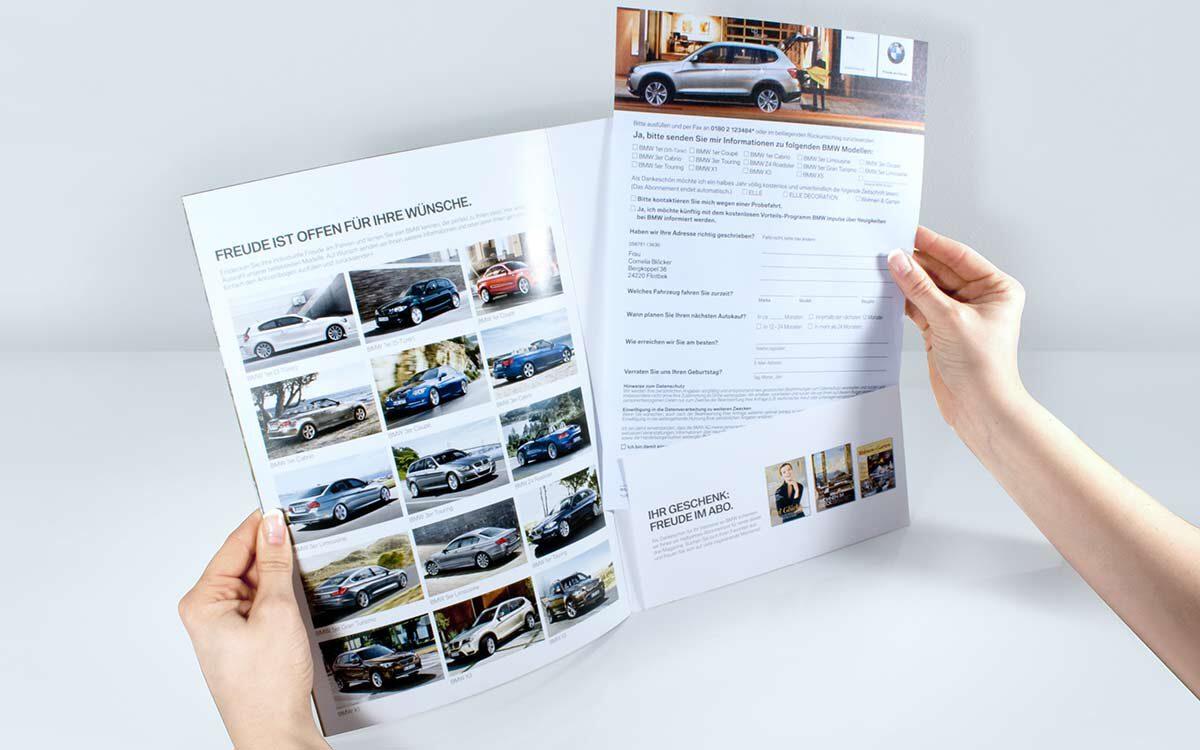 BMW Lifestyle Broschuere Fax