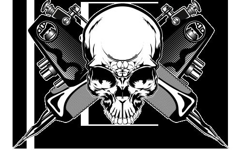 skull cross illustration